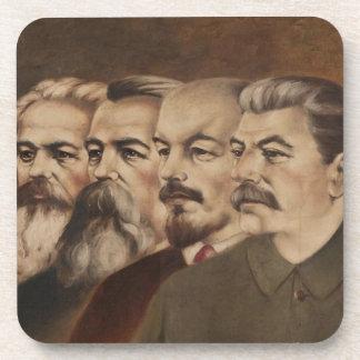Marx, Engels, Lenin, y Stalin Posavasos De Bebidas
