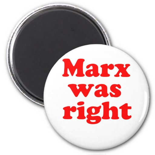 Marx era #2 derecho imán de frigorifico