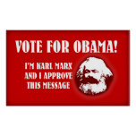 Marx for Obama Print