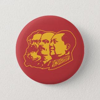 Marx Lenin Mao Portrait Button