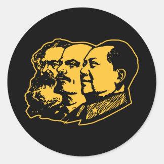 Marx Lenin Mao Portrait Classic Round Sticker