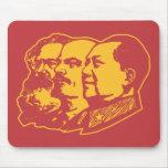 Marx Lenin Mao Portrait Mouse Pad
