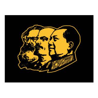 Marx Lenin Mao Portrait Postcard