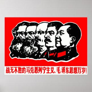 Marx Lenin Mao Zedong Póster