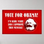 Marx para Obama Posters