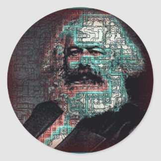 Marx Pegatina Redonda