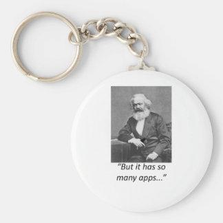 Marx Smartphone Apps Tee Basic Round Button Keychain