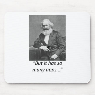 Marx Smartphone Apps Tee Mouse Pad