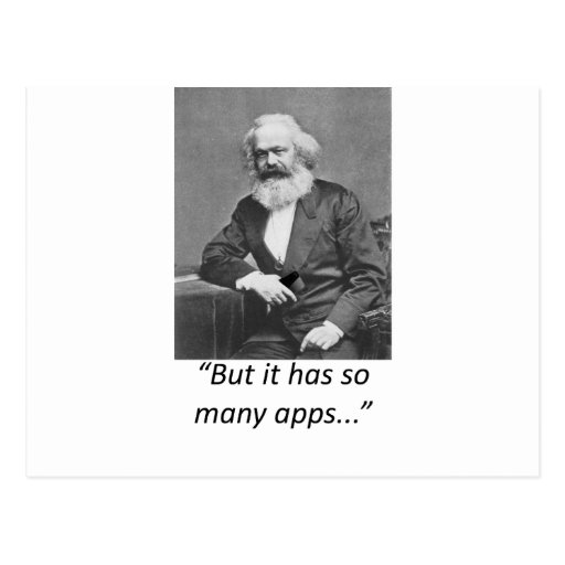 Marx Smartphone Apps Tee Post Cards
