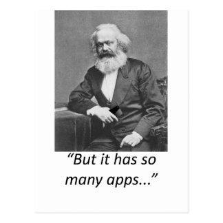 Marx Smartphone Apps Tee Postcard