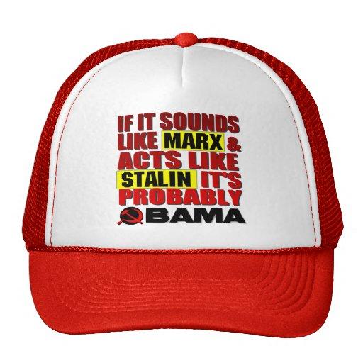 Marx, Stalin? Obama! Mesh Hats