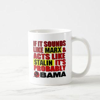 ¿Marx, Stalin? ¡Obama! Tazas De Café