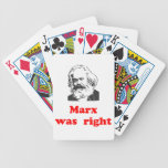 marx was right #2 bicycle poker cards