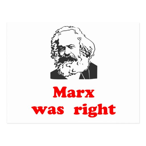 marx was right #2 postcard