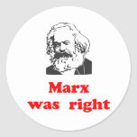marx was right #2 round stickers