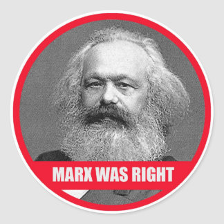 Marx Was Right Stickers