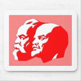Marx y Lenin Alfombrilla De Ratones