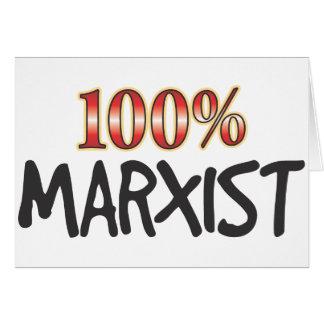 Marxista el 100 por ciento tarjetas