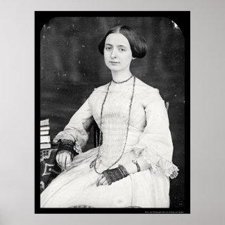 Mary A. Bartlett Daguerreotype 1853 Poster