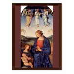 Mary Adoring The Child With The Archangel Gabriel Postcards