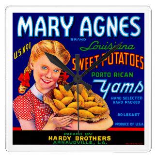 Mary Agnes Louisiana Yams Wall Clock