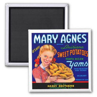 Mary Agnes Louisiana Yams Refrigerator Magnet