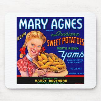 Mary Agnes Louisiana Yams Mousepads