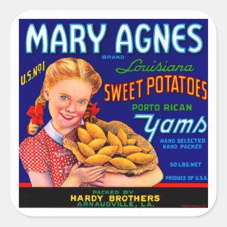 Mary Agnes Louisiana Yams Sticker