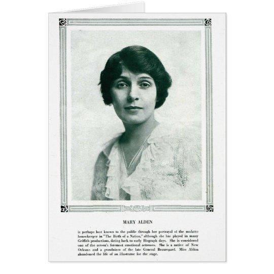 Mary Alden vintage 1916 portrait card