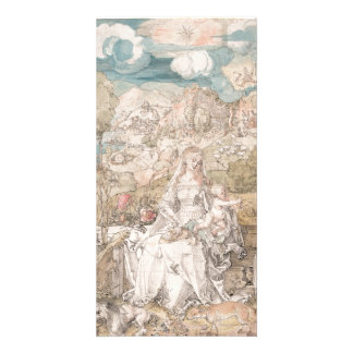 Mary Among a Multitude of Animals by Durer Card