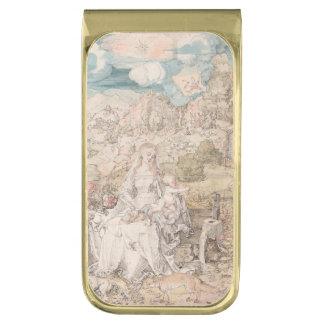 Mary Among a Multitude of Animals by Durer Gold Finish Money Clip