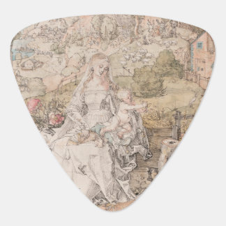 Mary Among a Multitude of Animals by Durer Guitar Pick