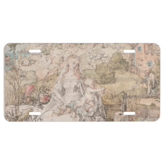 Mary Among a Multitude of Animals by Durer License Plate