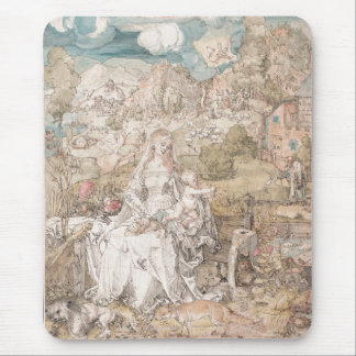 Mary Among a Multitude of Animals by Durer Mouse Pad