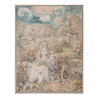 Mary Among a Multitude of Animals by Durer Posters