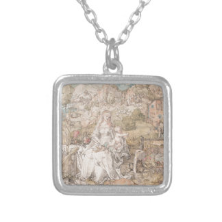 Mary Among a Multitude of Animals by Durer Silver Plated Necklace