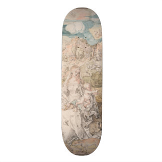 Mary Among a Multitude of Animals by Durer Skate Board Deck