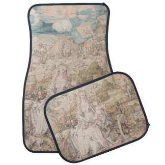 Mary Among a Multitude of Animals by Durer Car Mat