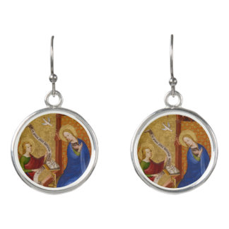 Mary and Angel of Annunciation Earrings