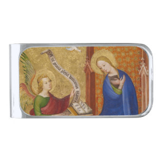 Mary and Angel of Annunciation Silver Finish Money Clip