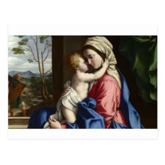 Mary and baby Jesus Art Postcard