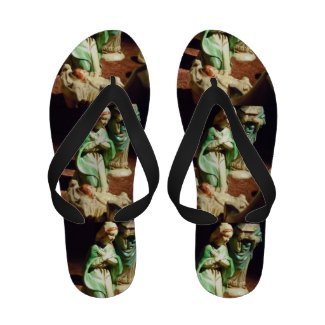 Mary and Baby Jesus Flip-Flops