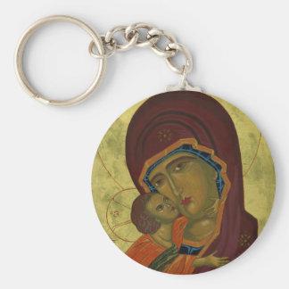 Mary And Baby Jesus Keychain