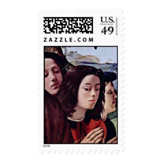 Mary And Child Angels St. Catherine Of Alexandria Postage Stamp