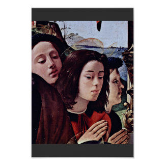 Mary And Child Angels St. Catherine Of Alexandria Poster
