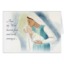 Mary and Child Card