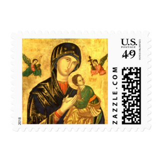 Mary and Child Jesus Icon Postage Stamp