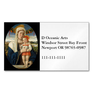 Mary and Child Under Garland Business Card Magnet