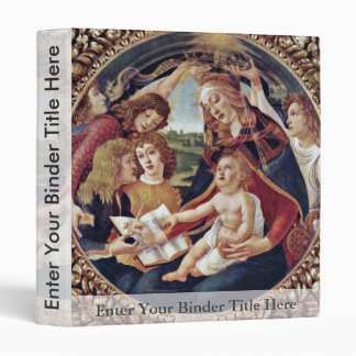 Mary And Christ Child And Five Angels Tondo Vinyl Binders