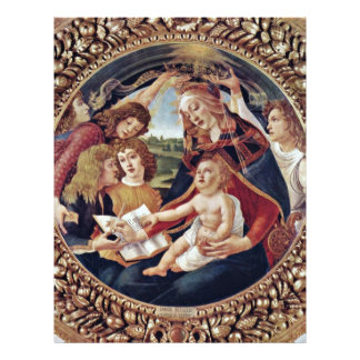 Mary And Christ Child And Five Angels Tondo Full Color Flyer